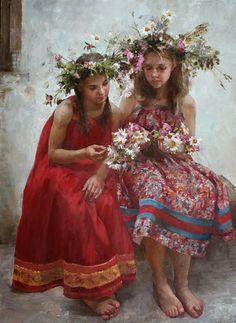 Natalya Milashevich Russian Figurative Artist, Children in Painting ~ Blog of an Art Admirer