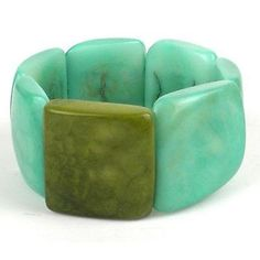 Accented Tagua Bracelet Sea Green - Faire Collection