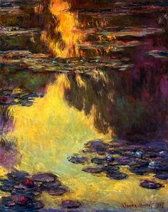 Water-Lilies Claude Oscar Monet - 1907