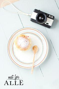 Fastelavnsboller, bolle med krem og syltetøy, lomo fisheye, food, www.matforalle.no