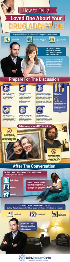Infographic: How To Tell A Loved One About Your Drug Addiction