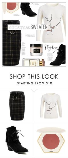 """""""Christmas Sweater"""" by mycherryblossom ❤ liked on Polyvore featuring Alexander McQueen"""