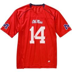 Russell Ncaa Ole Miss Rebels Men's Jersey, Red