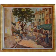 A. Van OEYEN Oil on canvas Art Deco 1939 Oil On Canvas, Canvas Art, Living Room Paint, Art Deco, Van, Paintings, Gallery, Ariel, Brown Living Room Paint