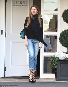 Maintaining her look: Sofia Vergara looked glowingly radiant as she left the posh Epione skin care clinic in Beverly Hills on Wednesday