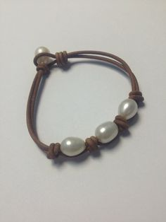 Leather and pearls by 30APEARLS on Etsy