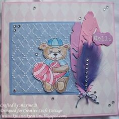 Feathers and a Bear Details on my blog