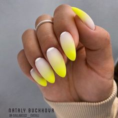 These gorgeous nail art designs are giving us all the manicure inspiration we need for our next manicure. We are obsessed with these fabulous nails. Gradient Nail Design, Gradient Nails, Cute Acrylic Nails, Cute Nails, Pretty Nails, Diy Nails, Galaxy Nails, Nail Nail, Colorful Nail Designs
