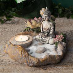 Jardin Zen Miniature, Mini Jardin Zen, Mini Zen Garden, Garden Art, Buddha Meditation, Meditation Corner, Meditation Garden, Meditation Music, Buddha Gold