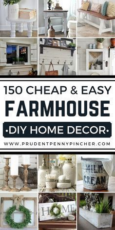 country house decor Save money with these DIY farmhouse decor ideas! From furniture to home accents and organization ideas, there are over a hundred projects to choose from. Country House Decor, Diy Home Decor Rustic, Country Farmhouse Decor, Easy Home Decor, Cheap Home Decor, Farmhouse Ideas, Country Style, Modern Country, French Country