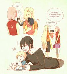 SaiIno family (+Sakura and Sarada)