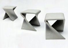 CONCRETE STOOL -  Anna Badur - 40 x 40 x 43 cm