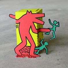 Cool Idea for learning about Keith Haring and 3D art.