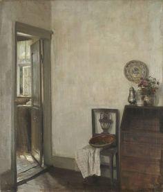 Carl Holsøe (Danish, 1863-1935), Interior. Oil on canvas