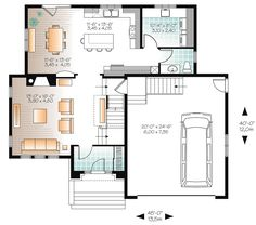 European House Plan 76360 Level One