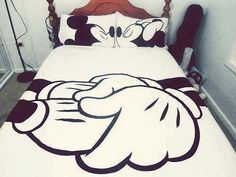 Micky & Minnie Mouse Bed Set For Couples