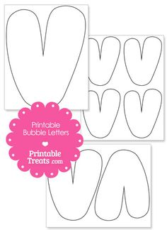Printable Bubble Letter V Template from PrintableTreats.com