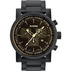 Nixon hombre-reloj Magnacon SS II Negro Mate/ Naranja tint analógico de cuarzo de acero inoxidable A4571354-00