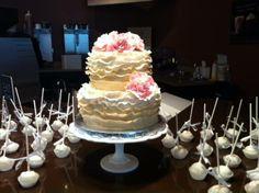 Bridal Shower Cake & Cake Pops