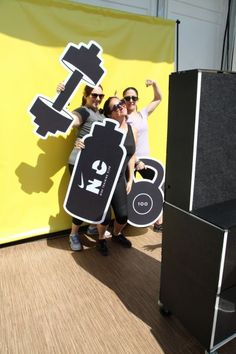 Flip Books Video Booth with Props for @Nikefactoryusa Training Club Tour LA - Event feature by @refinery29  #losangeles #fitness #photoboothprops #nike