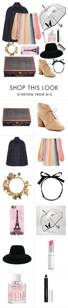 """""""What's in My Luggage? (France)"""" by taylor-kennedy-i ❤ liked on Polyvore featuring Goyard, French Connection, Chloé, Casetify, River Island, Maison Michel, Lancôme, Jimmy Choo, Givenchy and Buly"""