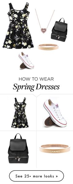 """Untitled #25"" by melissavieraa on Polyvore featuring Converse, Chanel, Michael Kors, COSTUME NATIONAL, women's clothing, women's fashion, women, female, woman and misses"