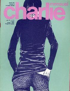 Charlie Mensuel - # 77 - Juin 1975 - Couverture de Crepax