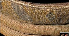 Detail of Mammen grave, padded armbands of silk of a high ranking Viking