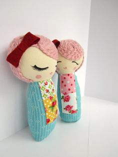 Mini Mend Cloth Doll Ready to Ship by MendbyRubyGrace on Etsy