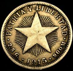 1915 CUBA 10 Centavos 90 Percent Silver Coin RARE PRE CASTRO SILVER COIN!