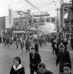 Seoul 1966: Entrance to Myeongdong