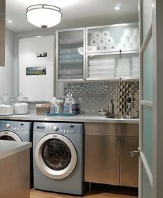 Get organized and stylish with these simple, DIY tips on keeping your laundry room compact. | Pulte Homes
