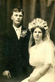 George Vorpahl and Selma Bargfrede wedding 23 December 1885 in Geronimo, Texas