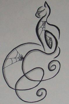 halloween tattoos cat thing by Gothic-Moonlight on DeviantArt Great Tattoos, Trendy Tattoos, Beautiful Tattoos, Body Art Tattoos, Ankle Tattoos, Tribal Tattoos, Gotik Tattoo, Tattoo Website, Cat Tattoo Designs