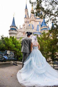 Woah....cant even imagine how expensive this would be!  Magic Kingdom Disney Wedding Portraits: Cierra + Mark