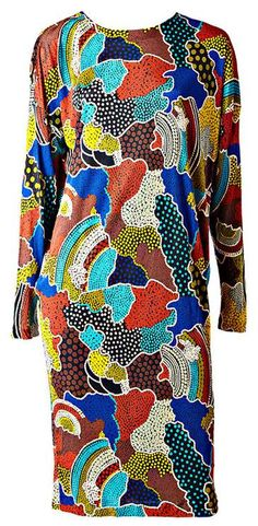 View this item and discover similar for sale at - Missoni, Aborigine print silk knit 't' shirt dress. Fashion Fabric, Fashion Prints, Fashion Design, Missoni, Textiles, Embroidery Fashion, African Fabric, Mode Inspiration, Colorful Fashion