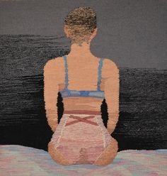 Throwaway nude selfies take on a greater significance in the subversive textiles of Erin M. Riley...  http://www.we-heart.com/2015/02/25/erin-m-riley-something-precious-soze-gallery-los-angeles/