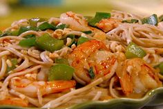 Peanutty Somen Noodles with Shrimp from FoodNetwork.com