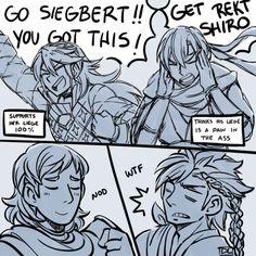 Fire Emblem Fates - Soleil, Asugi, Siegbert, and Shiro