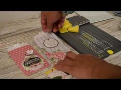 """(32) Make Pockets using WRMK Gift Bag Punch Board *Tutorial* - YouTube   6x6 score at 1 5/8"""", 4 3/8"""" Scrapbooking, Scrapbook Paper Crafts, Gift Bag Punch Board, Envelope Punch Board Projects, Diy Crafts For Girls, Paper Punch, Punch Art, We R Memory Keepers, Pocket Cards"""