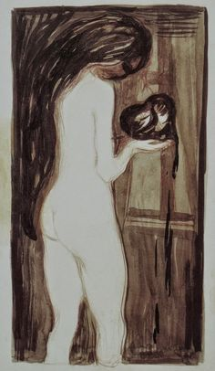 The Woman and the Heart  -  Edvard Munch 1896Norwegian    1863-1944