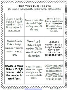 Classroom Freebies Too: Place Value of Large Numbers