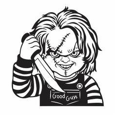 Chucky Horror Movie, Horror Movies, Vector Clipart, Vector Art, Chucky Face, Chucky Drawing, Horror Art, Horror Drawing, Jason Voorhees
