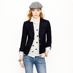 Petite schoolboy blazer in navy - jackets & outerwear - Women's petite - J.Crew