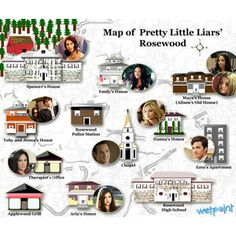 rosewood pretty little liars map - Buscar con Google