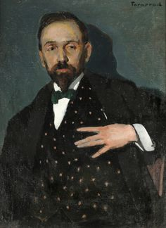 Rodolphe Fornerod (Swiss, 1877-1953), Presumed portrait of Jacques Ferny, 1909.on