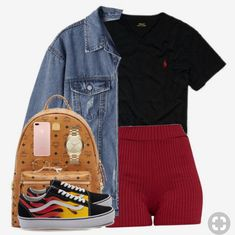 Designer Clothes, Shoes & Bags for Women Chill Outfits, Swag Outfits, Dope Outfits, Short Outfits, Casual Outfits, Summer Outfits, Fashion Outfits, Gucci Outfits, Vanz
