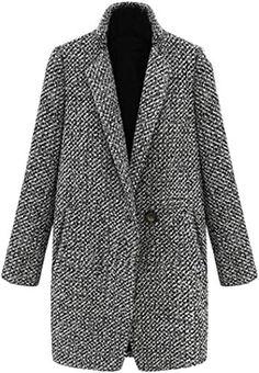 Compre Misturas De Lã Das Mulheres Casacos De Sobretudo Elegante Senhora Do Escritório Casaco De Negócios Blazer Terno Moda Sólida Solto Jaqueta De
