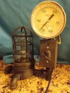 Steampunk Lamp Light Vintage Antique Industrial Machine Age Edison Bulb Included