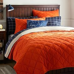 Get inspired with teen bedroom decorating ideas & decor from Pottery Barn Teen. From videos to exclusive collections, accessorize your dorm room in your unique style. Sports Quilts, Sports Bedding, Teen Bedding, Teen Bedroom, Bedroom Decor, Teen Rooms, Bedroom Ideas, Shared Rooms, Bedding Sets